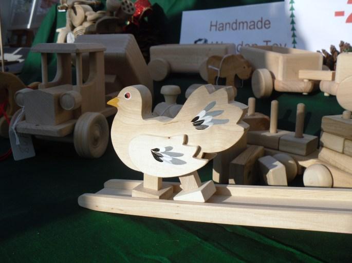 wooden bird top